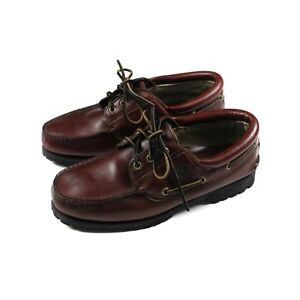 Timberland GORETEX Mens Brown Leather Boat Deck Shoes - Size 8W - UK 7.5
