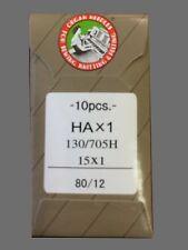 100 80/12 SHARP ORGAN FLAT SHANK 15X1 HAX1 130/705 HOME SEWING MACHINE NEEDLES