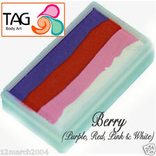 TAG Body Art One Stroke Professional Face Paint Cake (30g) ~ Berry