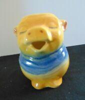 SHAWNEE POTTERY  'Clover Blossom'  Smiley Pig Pitcher Creamer #86