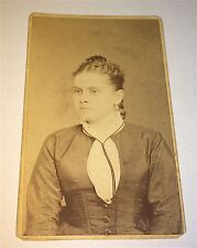 Antique Victorian American ID'd Woman! Info on Back! Williamsport, PA CDV Photo!