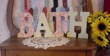 """""""BATH"""" Decorated 9"""" Multi-Colored Letters  - ba129"""
