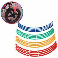 16Strips Bike  Motorrad/Auto-Rad-Reifen-Aufkleber Reflektierende  Felgenban K8N5