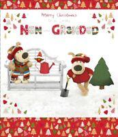 Boofle Nan & Grandad Christmas Greeting Card Foiled Xmas Cards