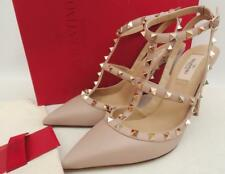 Valentino Beige Rockstud leather pumps Heels IT40.5 UK7.5 New