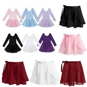 Girls Ballet Dance Leotards Dress Gymnastics Skate Kids Tutu Skirts Jumpsuits