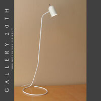 MID CENTURY MODERN MINIMALIST WHITE POLE FLOOR LAMP! KOVACS VTG 60'S LIGHT RETRO