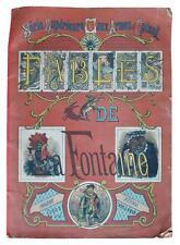 Livre ancien - Les fables de La Fontaine en images d'Epinal