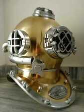 Antique Diver Brass Nautical Diving Divers Helmet U.S Navy Mark V Vintage Scuba