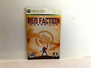 Red Faction Guerilla Xbox 360 MANUAL INSERT ONLY Authentic