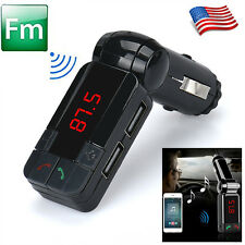 Dual Usb Car Kit Charger Wireless Bluetooth Stereo Mp3 Player Fm Transmitter Hot
