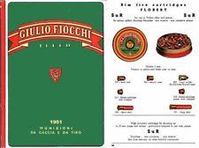 Fiocchi 1951 Ammunition (Italian) Catalog