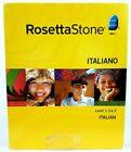 ROSETTA STONE ITALIANO ITALIAN LEVELS 1-2-3 VERSION 3 PC/MAC OLD VERSION SEALED