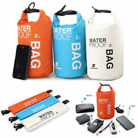 2L 5L Waterproof Dry Bag Sack Pouch Boating Kayaking Camping Rafting Hiking Bag