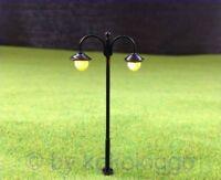 S232 - 10 Stück Straßenlampen 6cm mit LED 12-19V 2-flam. Parkleuchte Parklaterne