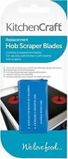 Kitchen Craft Pack Of 5 Stainless Steel Ceramic Hob Cleaner Scraper Spare Blades