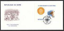 13245 - Pfadfinder/Scouts, Zaire, 1982, ungezähnter Block auf FDC.