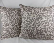 Linen Blend Paisley Square Decorative Cushions