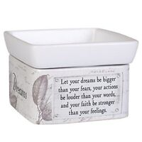 Dream Bigger Act Louder Faith Stronger Ceramic 2 in 1 Jar Candle and Wax Warmer