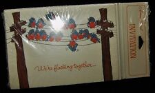 1 Pack of 8 NOS Vintage AMERICAN GREETINGS Party Invitation Cards ~ Sealed Birds