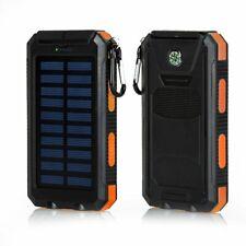 Waterproof 100000mAh Portable Solar Battery Charger Solar Power Bank 2 USB Hot