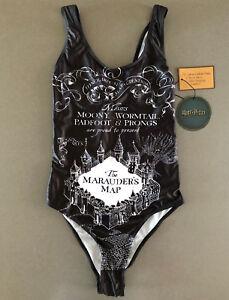 Damen Badeanzug Harry Potter Gr. 36 Schwimmanzug Bademode Marauders Map Swimsuit