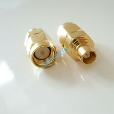 1Pcs SMA Male to MCX Female Straight RF Connector Adapter Gold Plated