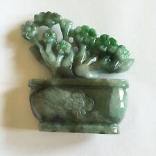 Basket Statue - J91 Beautiful Natural Jade Flower