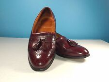 Bostonian Tassel Wingtip Burgundy Leather Casual Dress Loafer Shoes Size 8D