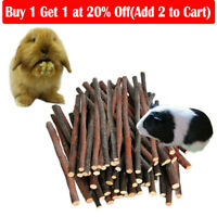 1Bag Natural Apple-Tree Branches Wood Chew Stick Rabbit Hamster Guinea Pig Snack