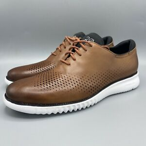 Cole Haan 2.Zerogrand Lined Laser Oxford British Tan/Ivory Size 12 M C27879