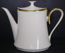 "LENOX china ETERNAL pattern Teapot / Coffee Pot - 6-3/8"" 5 Cups"