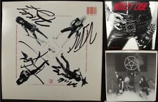 Motley Crue Too Fast For Love LP Tommy Nikki Mick Vince Neil SIGNED autographed