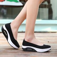 Women Summer Shoes Height Increasing Slimming Wedges Sneakers Walking Platforms