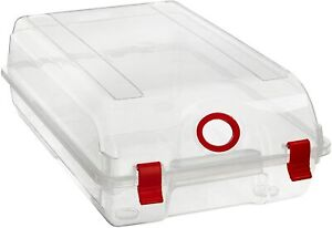 3 x Clear Sturdy Plastic Shoe Storage Boxes Durable Organiser