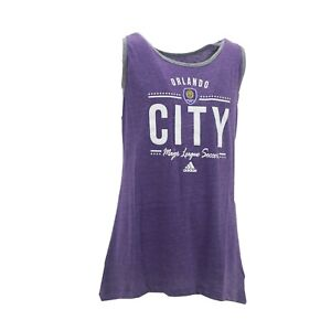 Orlando City SC Official MLS Adidas Apparel Kids Youth Girls Size Tank Top Shirt