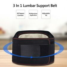 3 In1 Magnetic Back Support Brace Belt Lumbar Lower Waist Adjustable Pain Relief