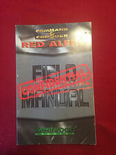 Command & Conquer Red Alert Field Instruction User's Manual Game Guide Game Book