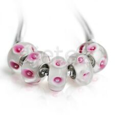 5pcs Murano Lampwork Glass Beads Big Hole For European Bracelet LB0147