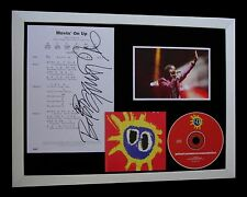 PRIMAL SCREAM+SIGNED+QUALITY FRAMED+MOVIN' ON UP=100% AUTHENTIC+FAST+GLOBAL SHIP