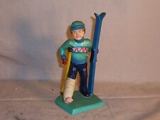 "Vintage Wilton 1979  Skiing Man on Crutches Statue Figure 5 1/2"" Cake Topper?"
