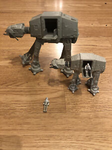 Star Wars Micro Maxhines AT-AT Vehicles X 2 (Large & Small)