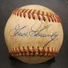 "Rich ""Goose"" Gassage Game Used Signed Baseball with JSA COA"