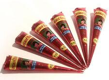 Buy 1 Get 1 Free! Henna Mehndi Tattoo Pen FREEPOST & BOGOF! Natural Red/Brown tq