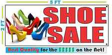 SHOE SALE w/ full color Pic Banner Sign NEW Larger Size Best Quality for the $$$