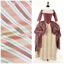 """NEW! SALE! 100% Silk Taffeta Pink Stripes Fabric- 55"""" Wide"""