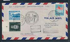 06459a) KLM FF Amsterdam - Saigon 31.3.59, Brief ab Leipzig DDR