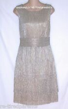 CONNECTED APPAREL – SEMI-FORMAL DRESS – SILVER & GOLD - SIZE 10 – NWT $100