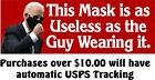 Anti Joe Biden Bumper Sticker 'Mask as useless as the guy wearing it' 8.6' x 3'
