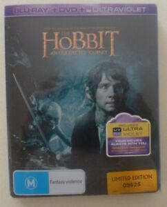THE HOBBIT AN UNEXPECTED JOURNEY blu-ray REGION B dvd LIMITED EDITION STEELBOOK